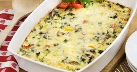 Omelett i form oppskrift.