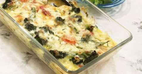 Gratinerte grønnsaker med cottage cheese oppskrift.