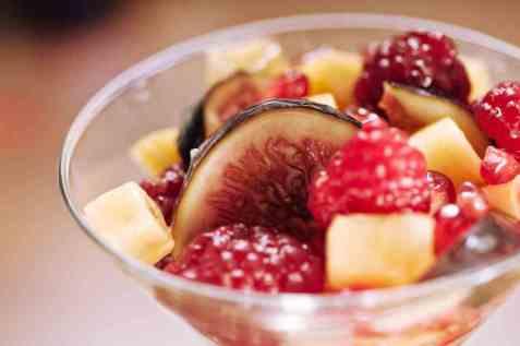 Fruktsalat med fiken oppskrift.