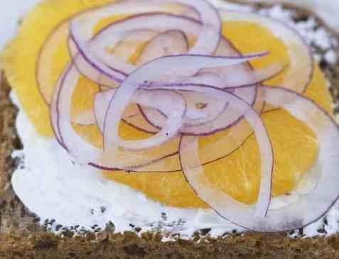Appelsin på skiven oppskrift.