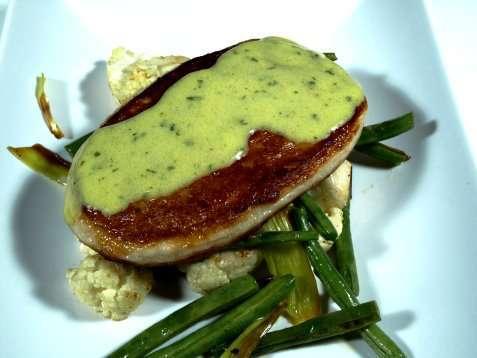 Fiskekaker på grønnsaksseng oppskrift.