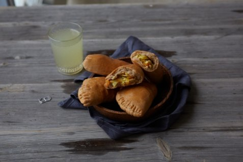 Bilde av Piroger med k�l, gulrot og egg.