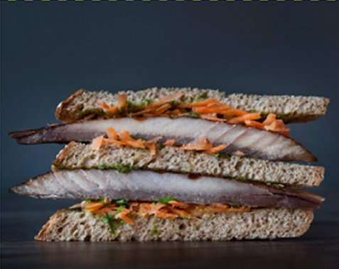 Start sandwich oppskrift.