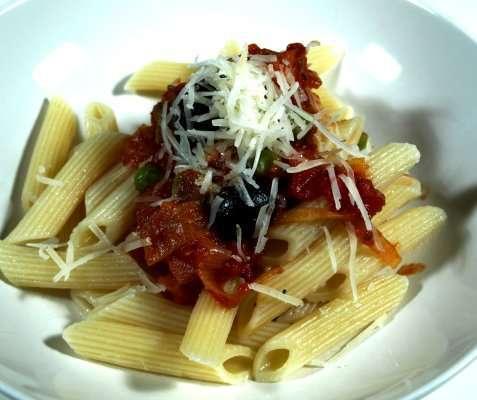 Bilde av Pasta penne med manchego.