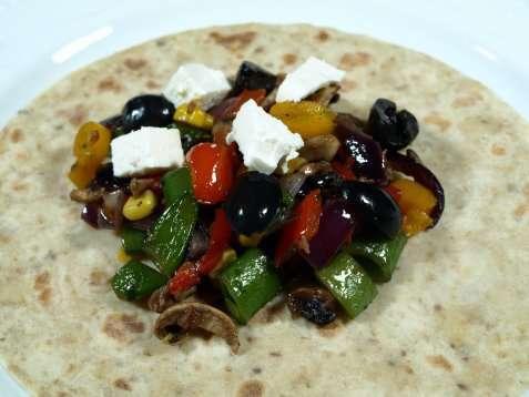 Vegetar burrito oppskrift.