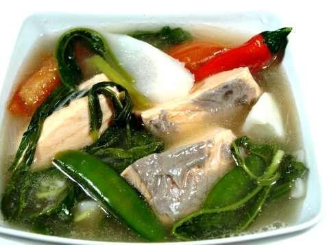 Sinigang Na Baboy Suppe med laks oppskrift.