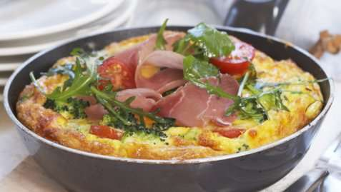 Eggepanne med brokkoli oppskrift.