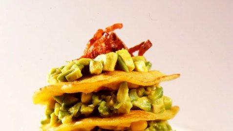 Maislapper med guacamole oppskrift.
