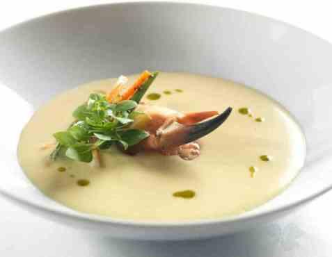 Suppe med krabbe oppskrift.