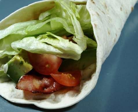Bacon tortillas oppskrift.