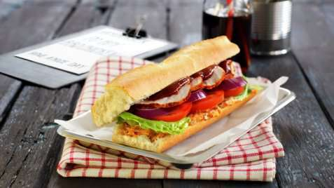 Cajun-sandwich oppskrift.