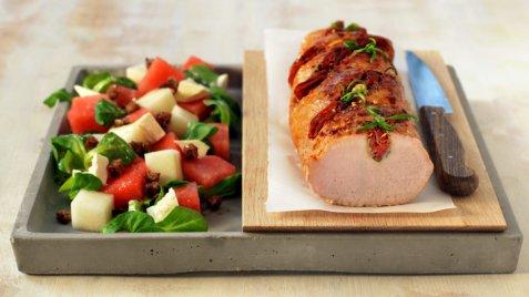 Bilde av Helstekt ytrefilet av svin med chorizo og rosmarin.