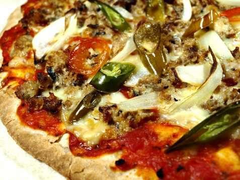 Spicy sardinpizza oppskrift.