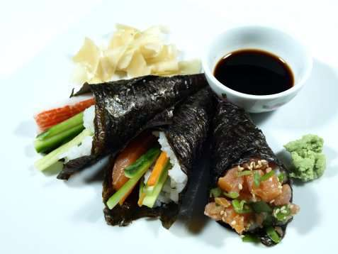Temaki Sushi oppskrift.