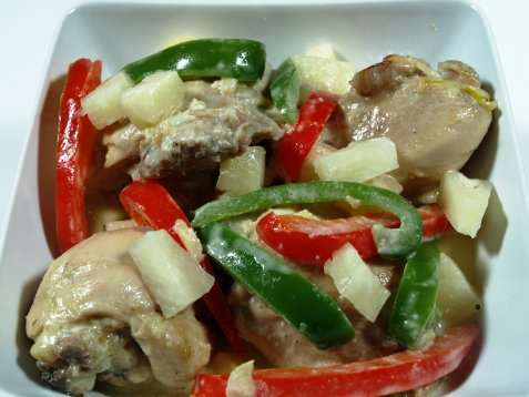 Pininyahang Manok (Ananas kylling) oppskrift.