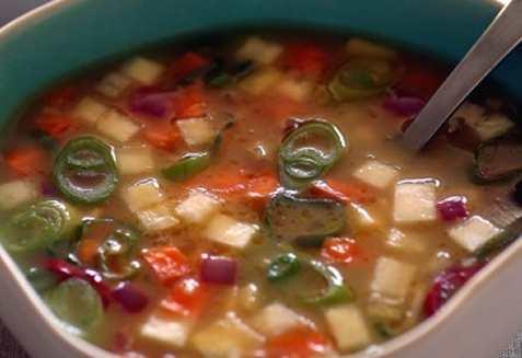 Suppe med sitrus og grønnsaker oppskrift.
