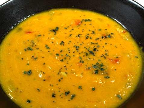 Squash suppe med paprika oppskrift.