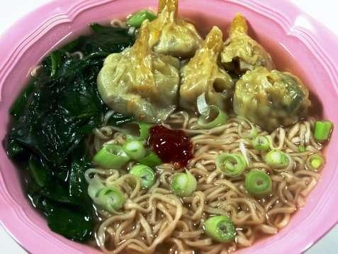 Wonton noodle soup hong kong style oppskrift.