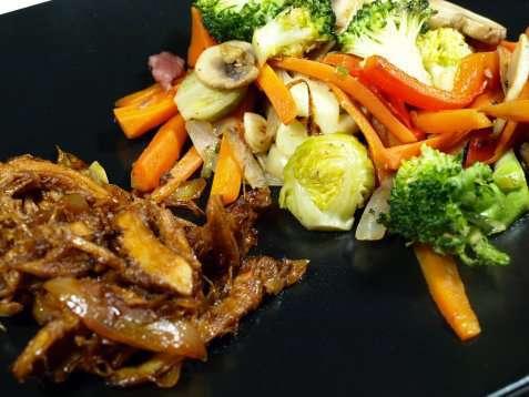 Kalkuncurry med grønnsaker oppskrift.