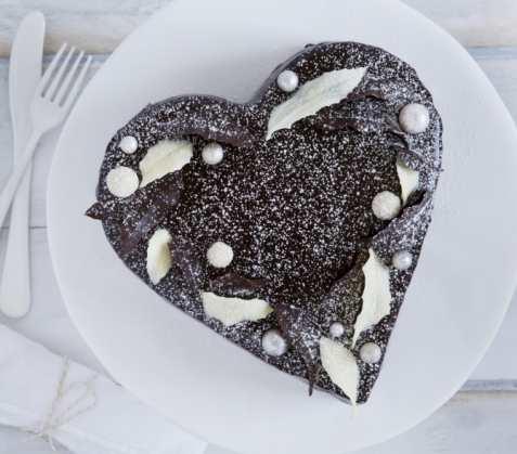 Bilde av Sjokoladehjerte med peppermyntesmak.
