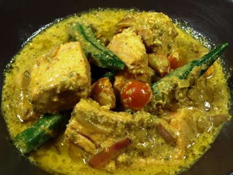 Kari Ikan fish curry oppskrift.