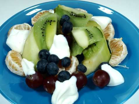 Spennende frukter med vaniljekesam oppskrift.