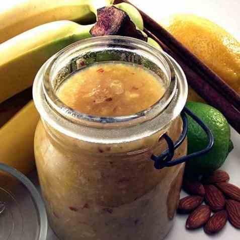 Bananmarmelade oppskrift.