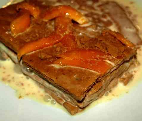 Bilde av Filippinsk mango-graham-dessert.