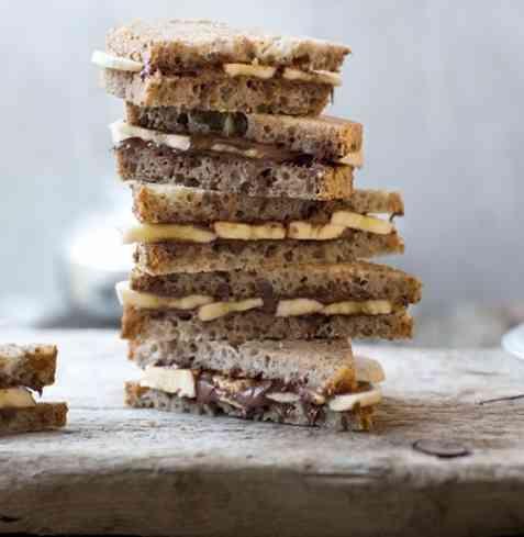 Bilde av Blings med sjokoladep�legg og banan.
