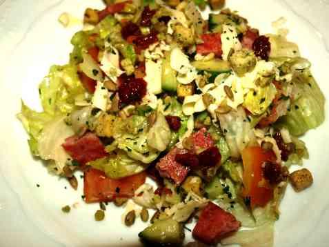 Bilde av Salat med stekt skinke.