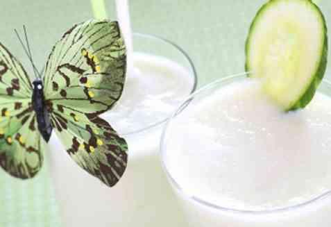 Agurk- og melonsmoothie oppskrift.