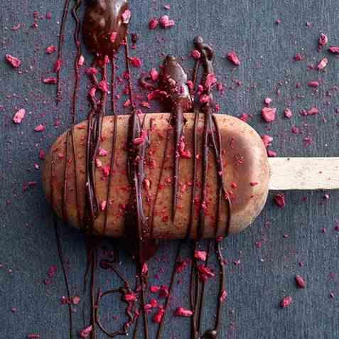 Ice pops med sjokolade oppskrift.