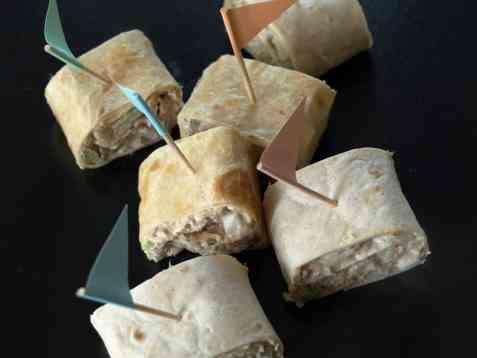 Tortillaruller med tunfisk oppskrift.