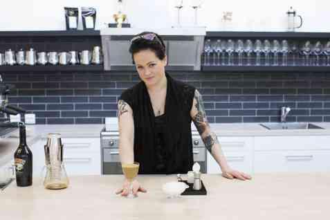 Bilde av Kaffe og Baileys with a black twist.