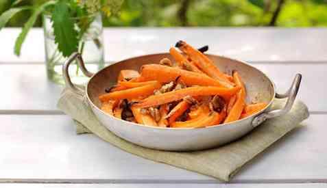 Grillede gulerøtter oppskrift.
