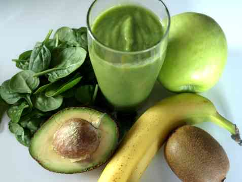 Sunn grønn smoothie oppskrift.