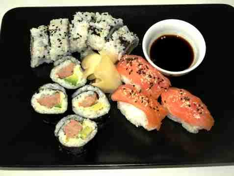 Sushi oppskrift.