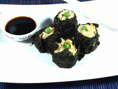Shumai som sushi oppskrift.