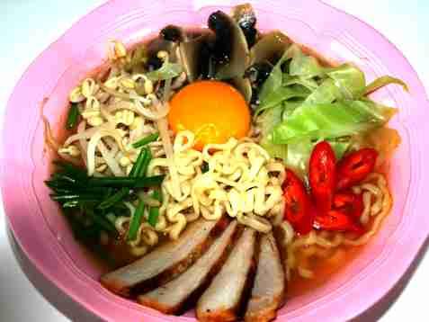 Bilde av Kimchi ramen suppe.