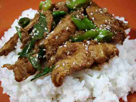 Enkel spicy mongolsk biff oppskrift.