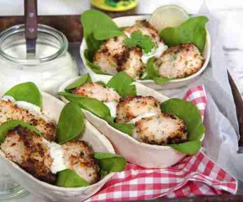 Bilde av Grillet kokoslaks med syrlig limesaus.