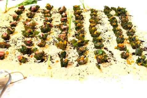 Flower Sprout med Iberisk pancetta oppskrift.