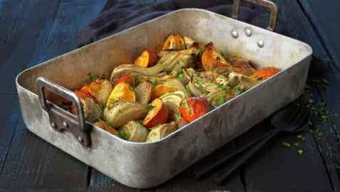 Bilde av Varm fennikel og klementinsalat.