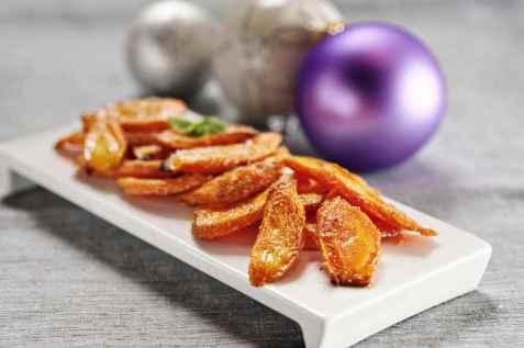 Bakte gulrøtter med kardemomme oppskrift.