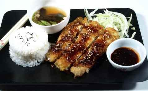 Japansk tonkatsu med fisk oppskrift.