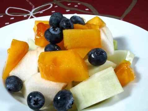 Eksotisk fruktsalat med nashi pære oppskrift.