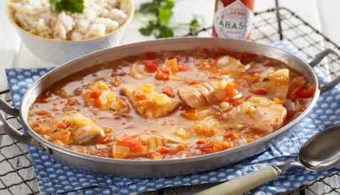 Bilde av Laks med kreolsk smak.