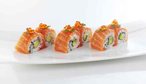 Karibumaki sushi med laks oppskrift.