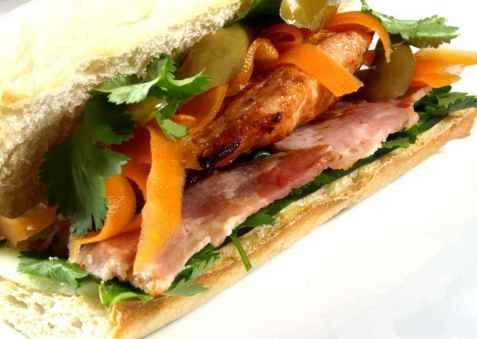 Vietnamesisk sandwich (Bánh mì) oppskrift.