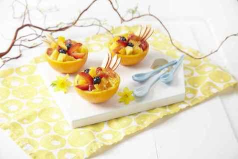 Bilde av Appelsinsalat i p�skedrakt.